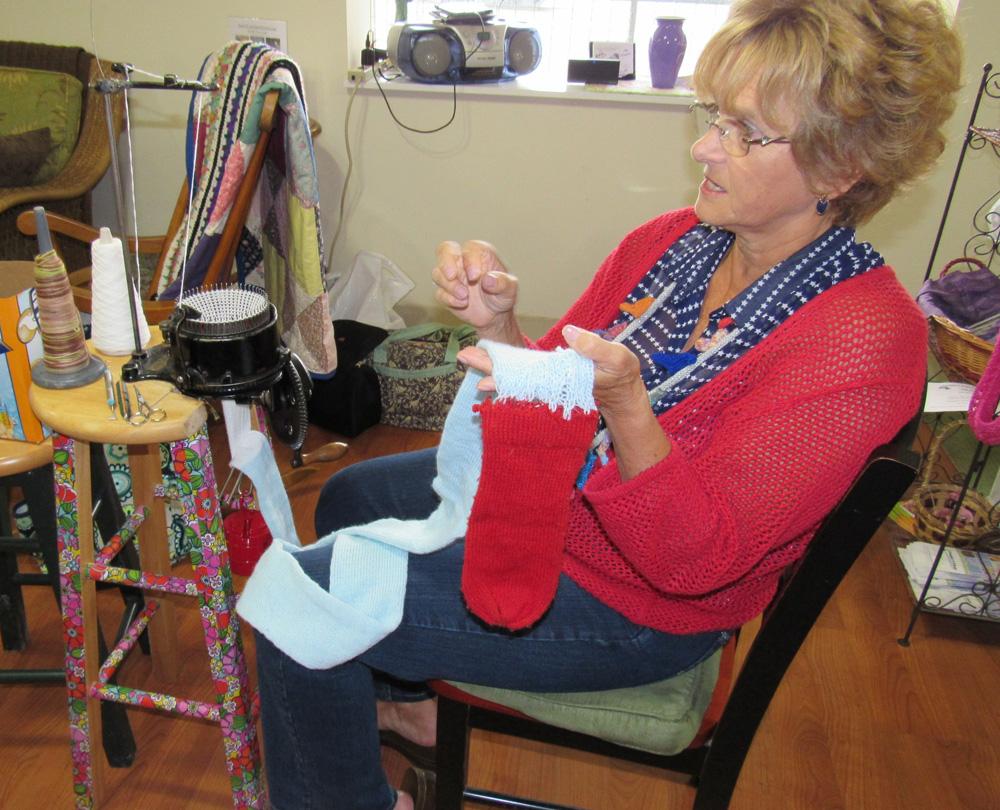 Carol Gursslin at knitter